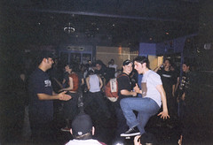 Mosh (Gary Kinsman) Tags: london 2001 film kingscollegelondon kcl students university fun youth young candid dance rock metal club metros metroclub tuesday rockclub metalclub moshing flash
