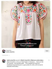 Fake Mexican Blouse Indonesia (Teyacapan) Tags: fakemexicanclothing blouses indonesian indonesia fakes copies
