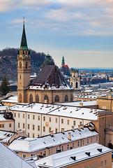 Austria, Salzburg - Snow Blanket (Nomadic Vision Photography) Tags: franciscanchurch travel viewpoint winter austria austrianwinter historic jonreid salzberg salzburg