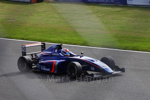 Petru Florescu in British F4 during the BTCC Brands Hatch Finale Weekend October 2016