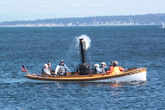 IMG_2172 - Port Townsend WA - Port Hudson Marina - 40th Annual Wooden Boat Festival - steamboat PUFFIN - blowing the whistle (BlackShoe1) Tags: washington wa washingtonstate olympicpeninsula porttownsendwa boat boatfestival woodenboat classicwoodenboat woodboat northwest maritime center wooden foundation wbf nwmc port hudson wash pacificnorthwest pugetsound jeffersoncounty eastjeffersoncounty quimperpeninsula porttownsend victorianseaport