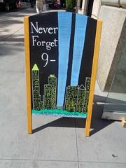 Never Forget (bruce_eyster) Tags: september11th streetsign manhattan newyorkcity digitalphotograph eyster 2016