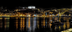 Luces del Duero (chemakayser) Tags: porto oporto portugal ribeira puente luces ligths duero river nocturna night city ciudad