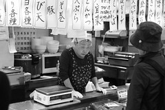 transcendence sales Technic (Csaba Desvari) Tags: kushiro fishmarket oldlady selling read