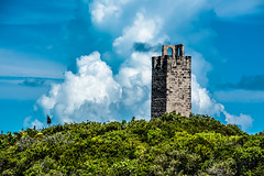 look out tower (-gregg-) Tags: clouds sky bahamas trees blue green