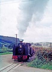 R1141.  Vale of Rheidol Ralway No.7 departing from Capel Bangor.  September, 1963. (Ron Fisher) Tags: capelbangor valeofrheidolrailway vofr no7 1963 1960s 262t 2gauge 600mmgauge 60cmgauge narrowgauge schmalspurbahn voieetroite ceredigion cymru wales midwales rail railway railroad eisenbahn chemindefer transport steam steamlocomotive locomotive locomotivevapeur vehicle tankengine owainglyndwr uksteam