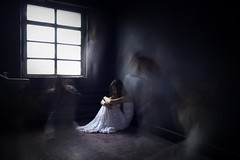 The loneliness is haunting me. (sylvievienne) Tags: ghosts loneliness haunting surreal portrait