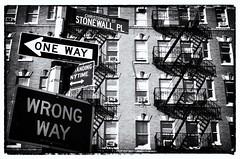 New York, NY (photobug56) Tags: newyork greenwichvillage westvillage usa manhattan fireescape streetsigns downtown