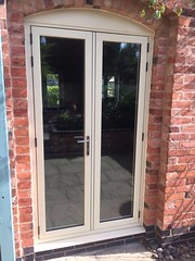 residence 9 French doors (The Nottingham Window Company) Tags: nottingham window company windows doors conservatories double glgazing residence 9 r9 dekko cotswold biscuit derby leicester graphite tear drop handles hardware
