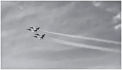 Thunderbirds (Black and White Fine Art) Tags: blueangels blueangelsshow canon50d tamron28mmf25adaptall2 bn bw