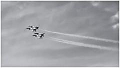Thunderbirds (Black and White Fine Art) Tags: blueangels blueangelsshow canon50d tamron28mmf25adaptall2 bn bw