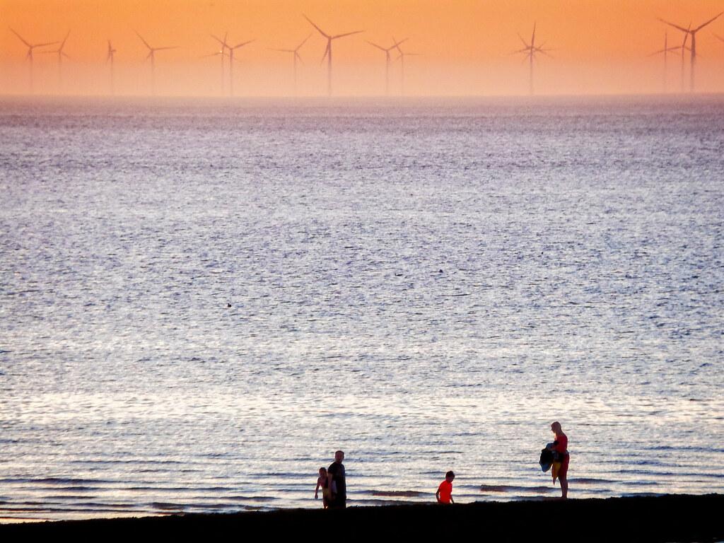 A Beach and a Wind Farm