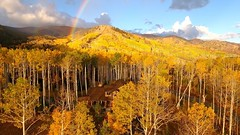 Aerial Drone Photos (spaceCityDrone) Tags: early morning flight colony area park city no that rainbow is photoshopped photo by spacecitydrones with phantom4