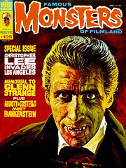 Famous Monsters #105 (1974), Christopher Lee cover by Basil Gogos (Tom Simpson) Tags: famousmonsters 1974 christopherlee cover basilgogos dracula horror halloween famousmonstersoffilmland painting art illustration vintage 1970s vampire