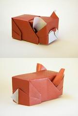 French Bulldog - Yoshihisa Kimura (Rui.Roda) Tags: origami papiroflexia papierfalten dog chien perro co cachorro french bulldog yoshihisa kimura