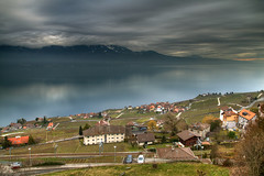 Day and Night (hapulcu) Tags: alps chexbres leman schweiz suisse suiza svizzera switzerland vaud waadt lac lake vineyard winter