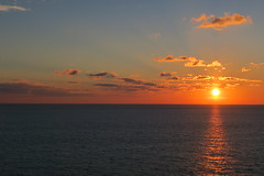 Sunset :) (michaelakrejzkov) Tags: flickrtravelaward sun sunset clouds sea awesome beautiful view mirror night travel boat msc