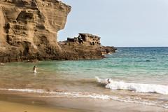 Adrien in the waves (koalie) Tags: 2015wintervacation adrien greensandbeach hi hawaii kalae papakoleagreensandbeach southpoint usa vacation naalehu unitedstates us