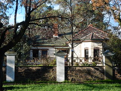 Home With 3 Pillars (mikecogh) Tags: home substantial wall stone pillars tiles moss rosewater