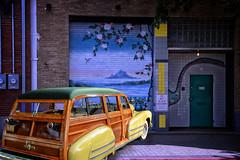 Open Sesame (Goromo) Tags: 1942 1942buickwoodystationwagon genevaconcoursdelegance genevaillinois deepellum streetart classiccar fantasy composite woody genevaconcours2016