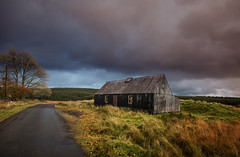 (Ian McClure) Tags: dumfries galloway pentax setting sun shack cottage tin