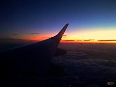 Sunset Above the Clouds (caren (Thanks for 1 Million+ views)) Tags: flight abovetheclouds lh2511 sunset sonnenuntergang wolken clouds sonnenuntergangberdenwolken sunlight magicmoments