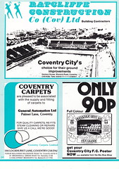 Coventry City vs Manchester United - 1981 - Page 38 (The Sky Strikers) Tags: coventry city manchester united highfield road sky blue official matchday magazine 30p football league division one
