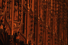 Woodwork of the choir stalls (N'GOMAPHOTOGRAPHY) Tags: peterborough cathedral nightshoot night candles gothic masonry stonework woodwork carvings stainedglass window jesus cross crucifixion