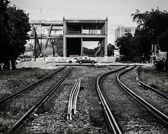 tracks (Pedro1742) Tags: railways metal blackandwhite structure cars monochrome lines