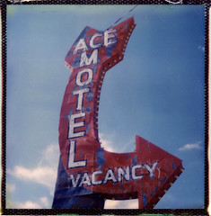Outside It's America #3 (Andrew Bartram (WarboysSnapper)) Tags: roidweek16 day2 image4 impossiblehq gen3test beta motel polaroid analogue polaroidweek2016 believeinfilm snapitseeit tipshow sx70 ndfilter usa