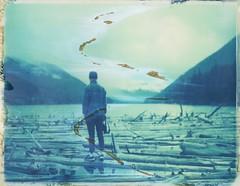 """ Floatting with them "" Lillooet, BC, Canada Roidweek Day 3 Photograph 1 of 2 (mikael bidard) Tags: polaroid polaroid180 polaroid669 bc canada"