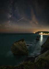 Two rocks (Benjamin Woodford) Tags: isleofwight iow nightphotography astronomy astrophotography seaside seascape night milkyway fuji fujixt1 samyang samyang12mm sailorstrap