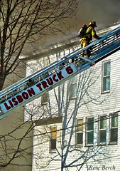 Lisbon Truck 6 Fire Fighter (Perfectly Imperfect Photography) Tags: camera houses macro me up rose fire photography crazy nikon close zoom smoke maine climbing trucks fighters fires firefighters lewiston berch disasters appartments