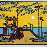 "<b>Ferry Slip</b><br/> Orville Running, LFAC# 2012.08.02, Woodcut, Print<a href=""http://farm9.static.flickr.com/8555/8699463416_5cb17ce76c_o.jpg"" title=""High res"">∝</a>"