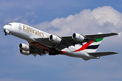 Airbus A380 - Emirates (Curufinwe - David B.) Tags: uk england sky london plane airplane airport aircraft aviation air flight landing emirates airline airbus a380 vol airways airlines takeoff avion lhr airbusa380 londonheathrow avgeek a380800 airbusa380800