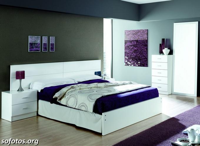 Decoração de quarto moderno