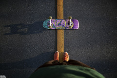 My Board and I (Eric Shell) Tags: red orange long board skating odd skateboard wraps futura shorty supra longboarding ofwgkta
