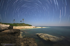 Colibra trails (rawen balmaa imagery) Tags: sea west landscape bay tripod philippine startrail canon1022mm dasol benro canon1000d dasolpangasinan colibraisland tambobongdasolpangasinan rawenbalmaa islacolibra
