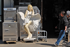 a little side(walk) business (jankor) Tags: street nyc food ny newyork industry mannequin metal fridge downtown manhattan marilynmonroe equipment sidewalk storefront bowery gothamist cooler hobart freezer trauben restaurantequipment worldwideinc