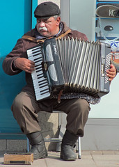 Accordionist (RogerJ2009) Tags: street uk england people musicians birmingham unitedkingdom britain candid performance performer westmidlands midlands 2013