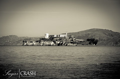 Alcatraz (OmegaMoth) Tags: sanfrancisco california blackandwhite bw white black building history water monochrome architecture landscape blackwhite nikon monochromatic september adventure journey alcatraz dslr westcoast 2012 d7000 nikond7000 sugarcrashphotography