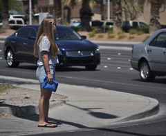 (Veee Man) Tags: street woman cars person lasvegas candid nevada gimp sidewalk nikond5000
