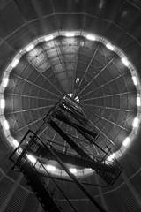 MAN Made Flower (paulquance) Tags: roof light london eye ship space gas ladder battersea holder gasometer