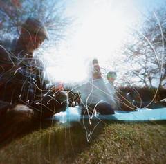 (popolove) Tags: park blue people tree japan spring soap picnic lawn sunny pinhole chiba bubble