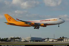 Centurian Cargo B744 N904AR ($and$man) Tags: airplane miami aircraft cargo landing centurian mia boeing 747 freighter kmia