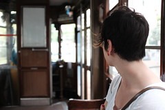 Girl on tram (Life is a space journey) Tags: milan city italy fuji x100t tram
