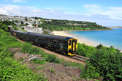 GWR Class 150 at Carbis Bay (andyc20050) Tags: gwr carbisbay stives cornwall class150 150233 150247 scenic dmu branchline beach