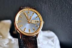 bucherer gold dress watch (DOLCEVITALUX) Tags: bucherer dresswristwatch wristwatch watch stilllifephotography