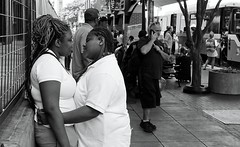 INTIMACY - DALLAS WEST END STATION (Andrew Moura) Tags: andrew moura west end station trains fire department first responders texas public aid medical paramedics health photography art rescue alert platform blacks sick emergency street mature nikon canon sony girls women crime jail police pd blackandwhite dart american umbrella fans summer heat rapid transit corn blackwhite eat dinner society photojo alcoholism homeless new mexico shopping cart beer wine booze drink outdoor lesbians