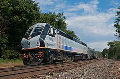 Alstom in Garfield (Adrian Corus) Tags: 5 v comet speedstripes commuterrail njt garfield alstom 1873 bergencountyline 4006 pl42ac pl42 rail train newjerseytransit njtransit njtr